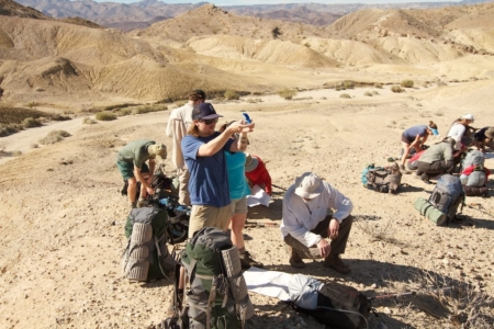 Map and Compass class, Desert Backpack trip